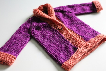 Baby sweater on yards of happiness