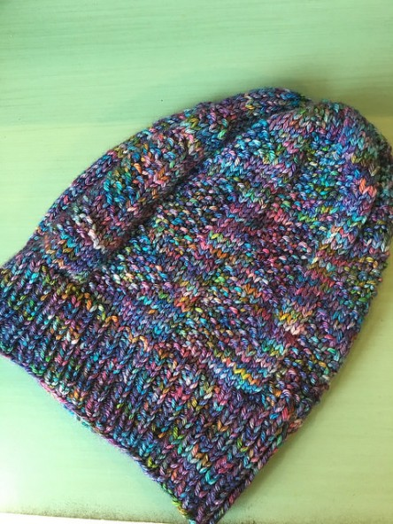 Knit hat in Madelinetosh Pashmina Worsted