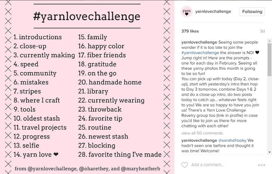 Yarn Love Challenge