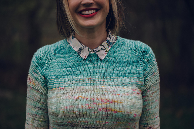 So Faded Sweater via Andrea Mowry on Ravelry
