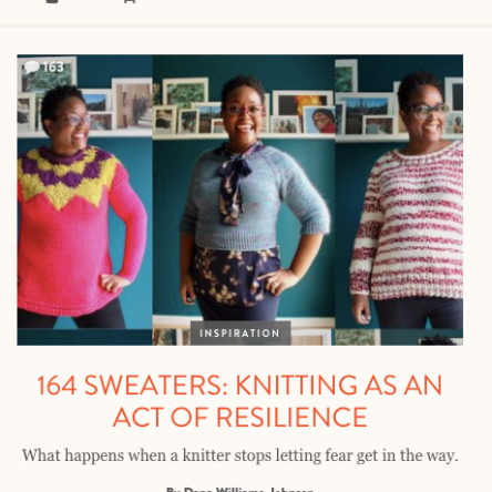 Knitting as an act of Resilience