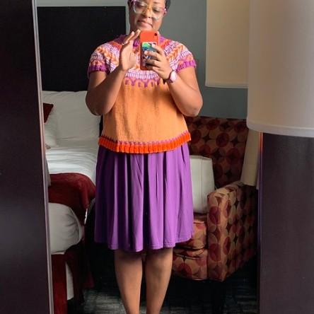 Dana's hotel room selfie