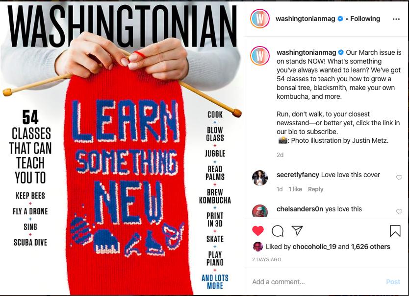Washingtonian Magazine March 2020