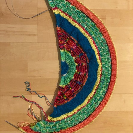 Rainbow Fantastitch Shawl